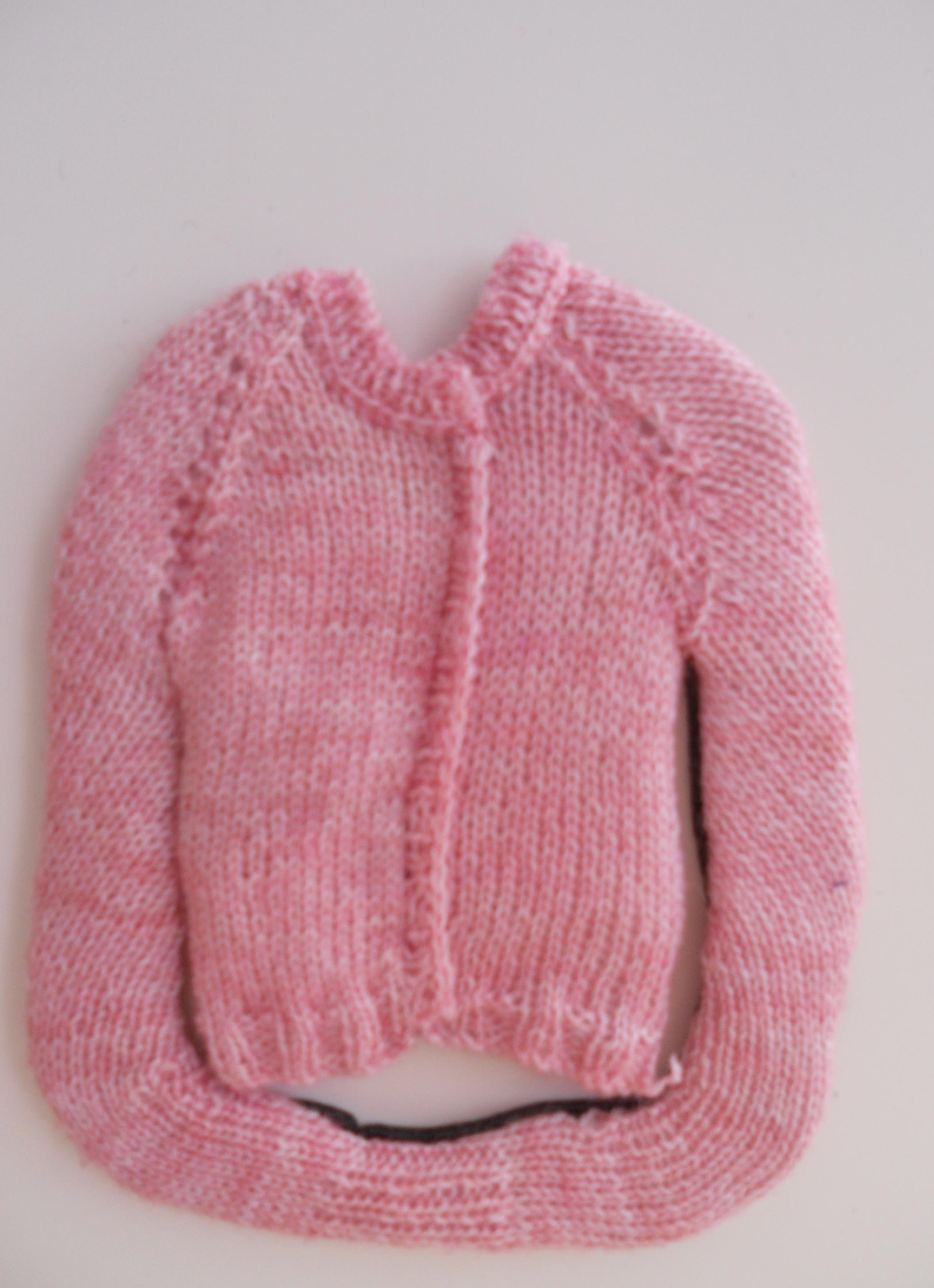 Distressed Cardigan Pink